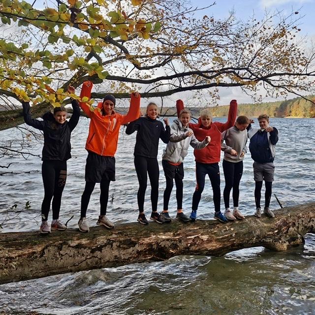 Training im Herbstwald